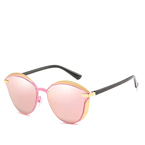 HNGM Gafas de Sol Gafas de Sol polarizadas de Lujo Señoras Redondas Gafas de Sol Señoras (Lenses Color : C4)