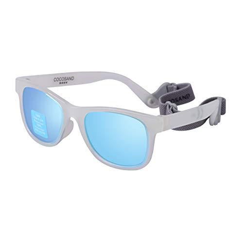COCOSAND Baby-Sonnenbrille mit Riemen - Weiß - 4X-Small