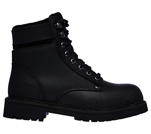 Skechers Work Brooten ST Womens Steel Toe Ankle Boots Black/Black 7.5