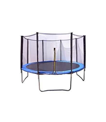 Cama elástica Azul con trampolín de 244 cm (8 ft) y Red Protectora. Aguanta hasta 158 Kilos. Incluye escalera