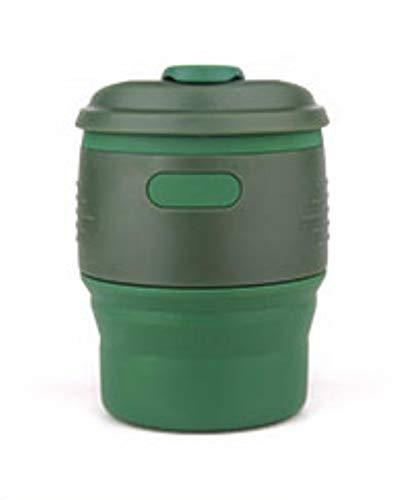 LIANYG Faltbarer Wasserbehälter Silikon Kaffeetasse Multifunktionale große Teetasse Küchenisolierung Outdoor-Trinkbecher