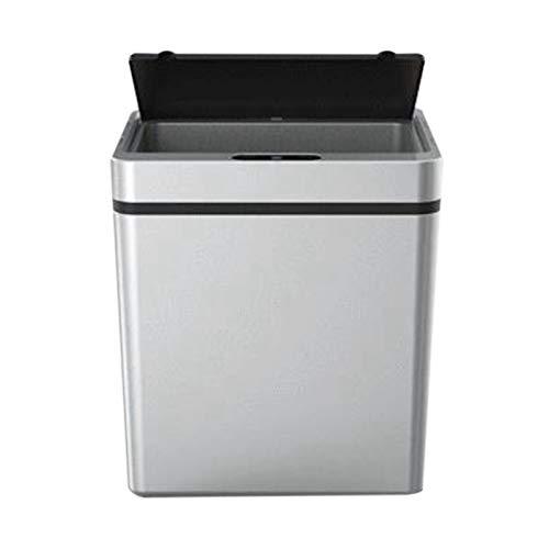 Kuinayouyi Cubo de basura de cocina con sensor de movimiento automático sin presión inteligente sin presión