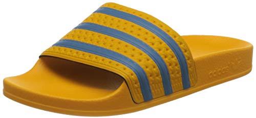 adidas Adilette, Slide Sandal Mujer, Crew Yellow/Hazy Blue/Crew Yellow, 39 EU