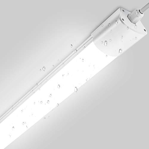 Feuchtraumleuchte LED Deckenleuchte 120cm, 32W 2800Lm Oeegoo Garage Lampe, IP65 Wasserdicht led Werkstattleuchte für Garage Keller Werkstatt Hof Büro Warenhaus Neutralweiß 4000K