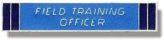 UNIFORM INSIGNIA Field Training Officer Bar - Nickel Backing