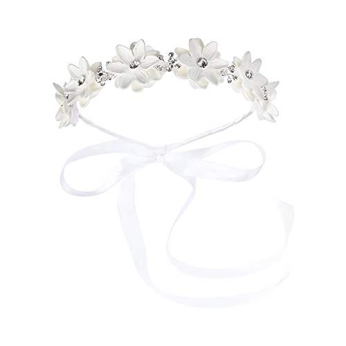 1 diadema con diseño de flores para niña, accesorio para el pelo, elegante corona de pelo, guirnalda floral, para fotografía, boda
