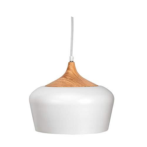 Pauleen Pure Delight 48147 - Lámpara de techo colgante (aspecto de madera, 40 W, E27, 230 V), color blanco