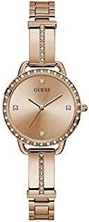 ساعة رسمية للنساء بهيكل ستانلس ستيل ومينا ذهبي وردي وعرض انالوج من جيس - GW0022L3