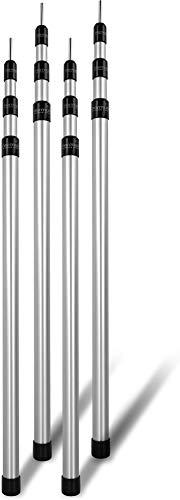 normani Outdoor Sports Aluminum Teleskop Zeltstange Aufstell-Stange Sützstange Verstellbar von 76-180 cm, 94-240 cm oder 116-300 cm Farbe 4 Stück Größe 94-240 cm