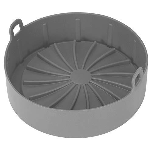 Cesta de accesorios para freidora de aire, canasta de repuesto para freidora de aire de repuesto para revestimientos de papel redonda Reemplazo de papel de revestimiento de pergamino inflamable(gris)