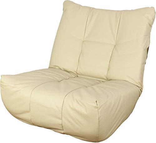 リクライニング座椅子 3人掛けソファ リクライニング 合成皮革 アイボリー いす チェア