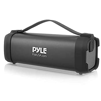 Pyle Wireless Portable Bluetooth Speaker - 100 Watt Power Rugged Compact Audio Sound Box Stereo System with Built-in Rechargeable Battery 3.5mm AUX Input Jack FM Radio MP3 and USB Reader - PBMSQG5