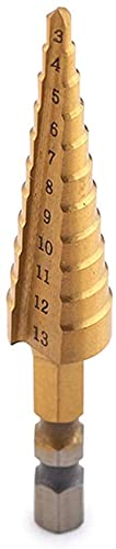 YAZUDU Conjuntos de bits de perforación 1/4 Manija Hexagonal 3-13 mm Titanio Recubierto Tallo Stepped PRODURSO Power Power Prof TRIMER DE CARBILIDAD Mini bit Set