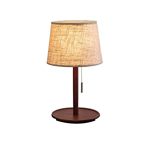 SPNEC Lámpara de Mesa nórdica Dormitorio Simple Moderno Americano Boda Retro cálido japonés de Madera Maciza Meseta de mesita de Cama