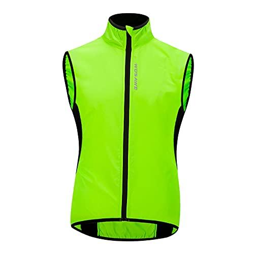 Sharplace Chaleco de Seguridad Reflectante Impermeable de Alta Visibilidad para Andar en Bicicleta de Noche - XXL