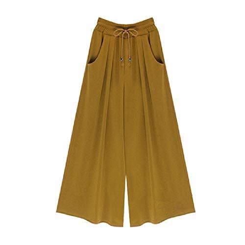 Tallas Grandes M-4XL 5XL 6XL Pantalones de harén Flojos Ocasionales para MujerCulottes dePierna Ancha de Verano Pantalones elásticosRopa Femenina Nuevo