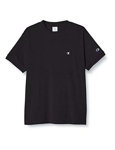 [チャンピオン] Tシャツ 半袖 パイル地 ルームウェア ワンマイルウェア ワンポイントロゴ刺繍ショートスリーブTシャツ C3-T301 メンズ ブラック M