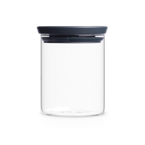 Brabantia Bocal en verre empilable, 0,6 l transparent