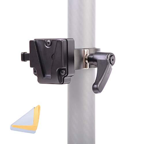DF DIGITALFOTO V-Mount-Klemme V-Mount/V-Lock-Batterieadapterhalter Kompatibel mit kardanischem Stativring mit leichtem Stativ, Clip Open Range Max. 1,65 Zoll Nutzlast bis 8,8 lb.