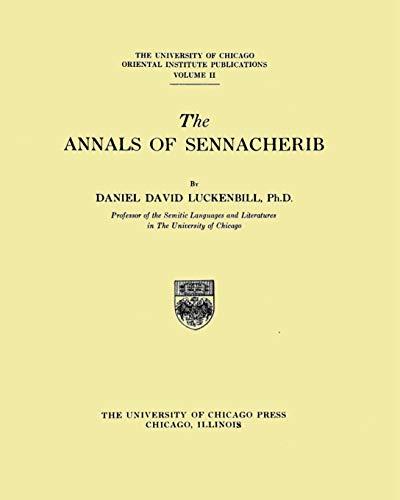 The Annals of Sennacherib