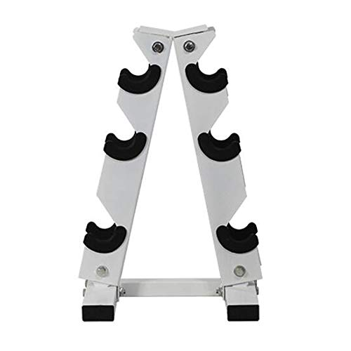 HAI+ Dumbbell Storage Rack Stand Holder, Solid Steel Dumbbell Rack Holder, A-Frame 3 Tier Weight Dumbbell Storage Racks, Free Weights Dumbbells Set for Home Gym Exercise (3 Tier)