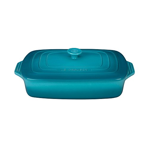 LE CREUSET 91042332490000 Rectangular, con Tapa, Color Azul