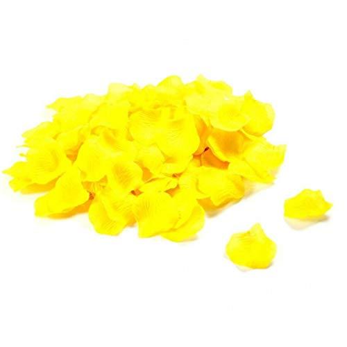 Ruluti 500 Stück Yellow Silk Petals