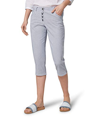 TOM TAILOR Damen Hosen & Chino Relaxed Tapered Jeans  Thin Stripe Pants,44