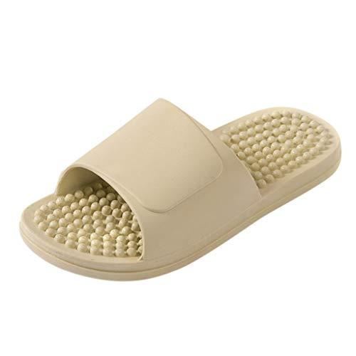 Lightweight Women/Men's Slip On Slippers Non-Slip Shower Sandals House Pool Shoes Bathroom Slide Water Shoes Green