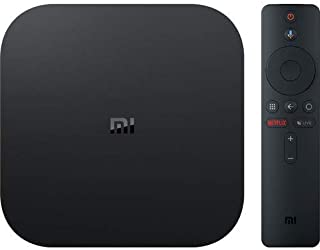 Xiaomi Mi Box S, Smart 4K Tv Box, Intelligent Ultra Hd Media Player, Work With Projector, Tvs & Mobile Phones, Powered By Android 8.1, International Version- Black