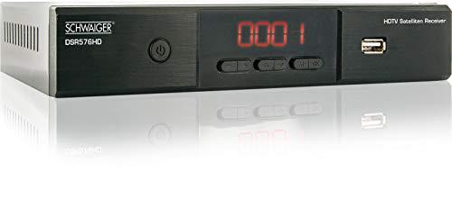 Schwaiger DSR576HD Free to Air Full HD Satellitenreceiver (Unikabel, DiSEqC, HDMI, SCART, Digital Tonausgang, USB 2.0) schwarz
