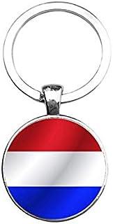 Sleutelhanger Glas - Vlag Nederland