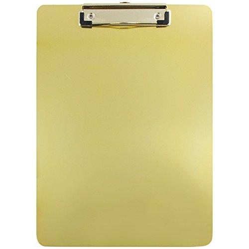 Jam Papier Aluminium Klemmbretter–22,9x 33cm–Verkauft Einzeln Single Clipboards Gold Aluminum