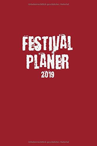 Festival Planer 2019: Red Grunge Edition I Eventplaner und Tagebuch für Deine Festivalsaison I Für bis zu 5 Events I Perfekt organisiert & mehr Zeit für die Party I Robustes Softcover