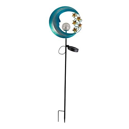 Gazechimp Lámpara de Luz de Jardín de Energía Solar LED Luna Decoración Impermeable Al Aire Libre
