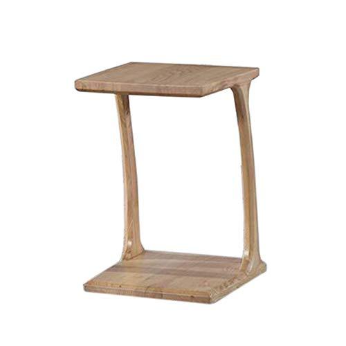 Table de lit, Table à mortaise en bois massif et table latérale de tenon, Cône de table Tables d'extrémité latérale pour salle de séjour Table de canapé, tables de café Snack Petite table carrée, 2 co