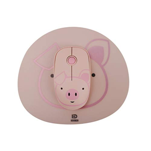 FanLe Wireless Mouse with Pad and Nano Receiver, 2.4G Cute Colorful Animal Slim Silent Travel Gaming Mouse for Girls Kids Women Optical Designed Rechargeable Mice for PC Laptop Computer