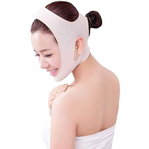 HengYue V Face Line Belt Ultra-Mince Anti Aging Wrinkle Cheek Chin Facial Mask Slim Uplift Shaping Lift Up Mask Belt Band,M
