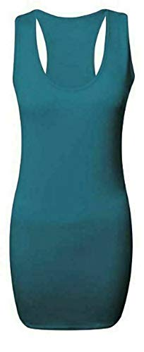 Camiseta sin mangas para mujer, con espalda cruzada, camiseta de tirantes para mujer, informal, sin mangas, atlética, para actividades, Teal, 36-38