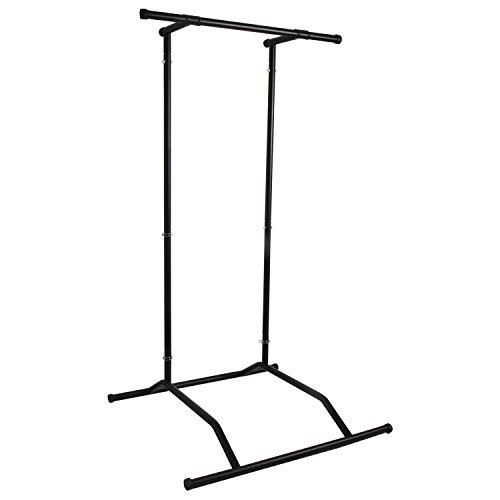 CCLIFE Multifunktion Pull Up Station Klimmzug mit Schnellverschlüsse Belastbarkeit 110 kg Klimmzuggerüst, Farbe:Pull up bar Black