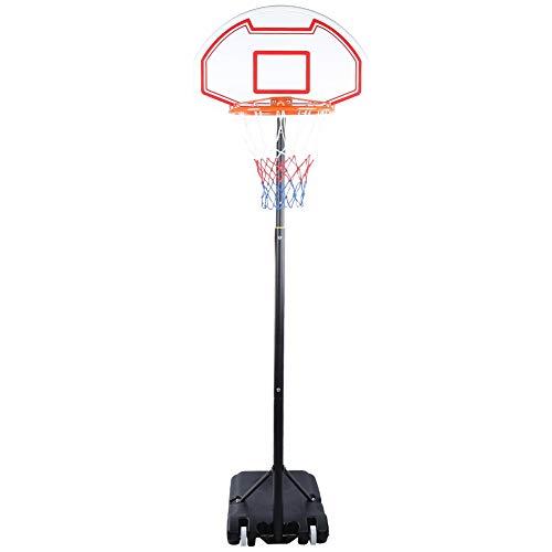 Basketballständer Basketballkorb mit Ständer Basketball Systemständer Tragbarer Basketballkorbsatz mit Rückenbrett und Rädern Korbanlage Outdoor Basketballanlage für Kinder Jugend Erwachsene Familie