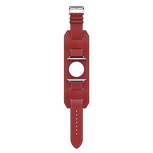 Langy leren armband voor Apple Watch Series 5 4 3 2 1 38 mm 42 mm iWatch Series 4 40 mm 44 mm, 38mm, Netto