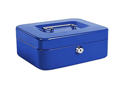 Kippen 10033B2 - Caja de caudales azul, medidas: 200 x 160 x 90 mm