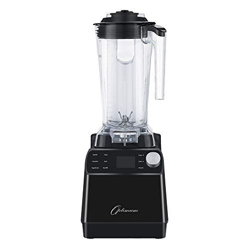 Optimum Vacuum Blender - High-Speed Countertop Kitchen Smoothie Maker, Quiet Blender, Virtually No Foam, Heavy Duty Motor 2238W, Tamper Tool, 10 year Warranty (Black)