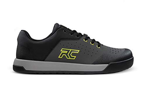 Ride Concepts Men's Hellion Flat Pedal Mountain Bike Shoe Charcoal/Lime 11.5 M US