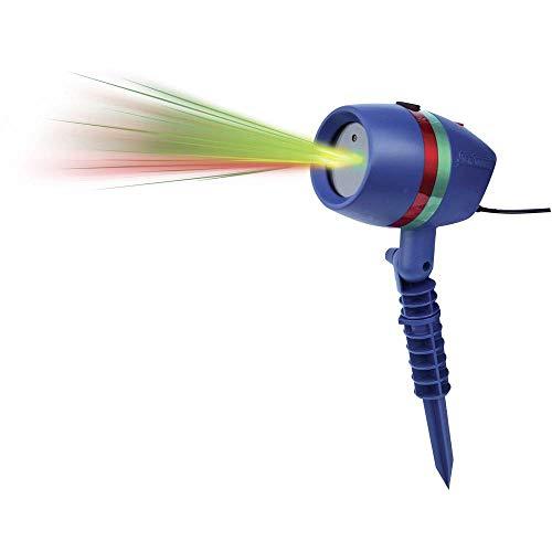 Star Shower Motion mit Erdspieß   Laserlicht Lichtsystem für Innen und Außen   Weihnachts-Party-Beleuchtung   bewegte oder fixierte Lichtmuster   Das Original aus dem TV