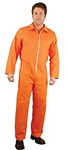 """Orange Spunbond PP Coverall 2 oz. Large size. 26"""" Zipper. Open Wrists, Ankles. No pockets. High Visibility. Polypropylene Protective Coveralls. Unisex Disposable Workwear for Cleaning, Manufacturing"""
