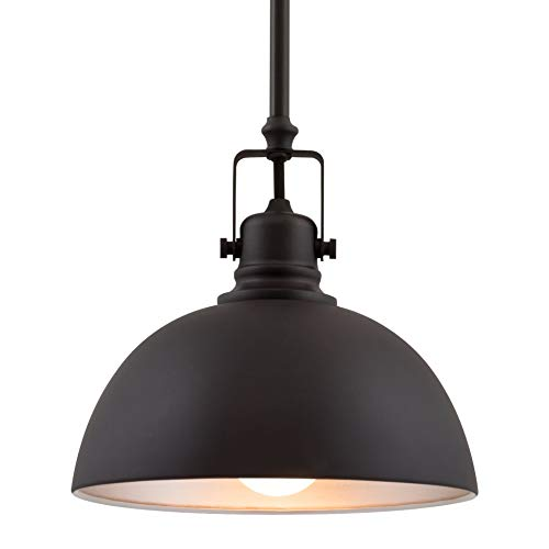"Kira Home Belle 9"" Industrial Adjustable Bronze Pendant Light, Oil-Rubbed Bronze Finish"
