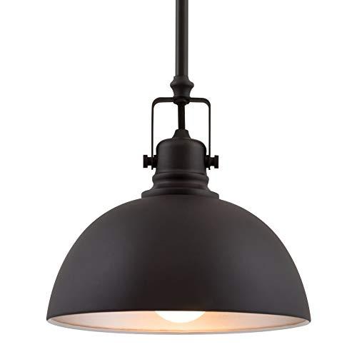 Kira Home Belle 9' Contemporary Industrial 1-Light Pendant Light, Adjustable Length + Shade Swivel Joint, Oil-Rubbed Bronze Finish