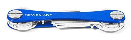 KeySmart - der kompakte Schüsselhalter und Anhänger-Organizer (bis zu 8 Schlüssel, Blau)